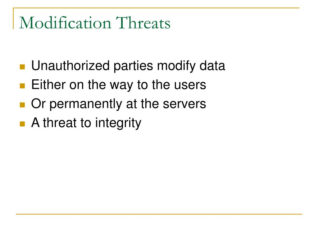 Modification Threats