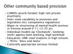 other community based provision