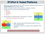 rtjperf tested platforms