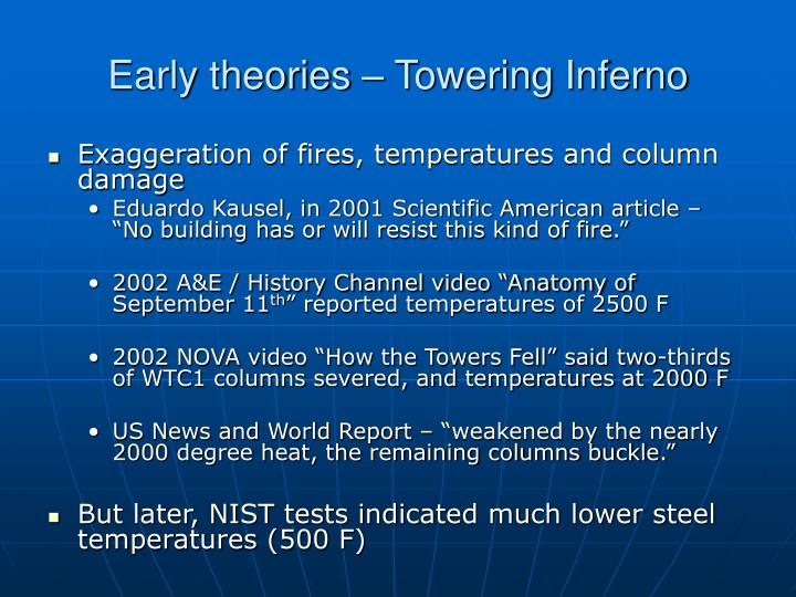 Early theories – Towering Inferno