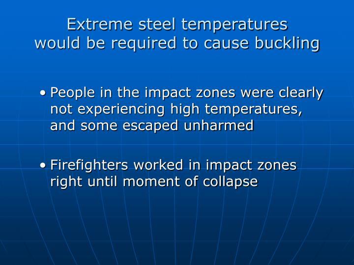 Extreme steel temperatures
