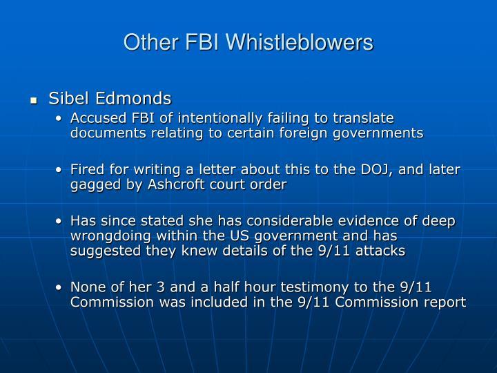 Other FBI Whistleblowers
