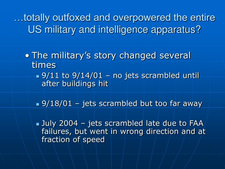 …totally outfoxed and overpowered the entire US military and intelligence apparatus?