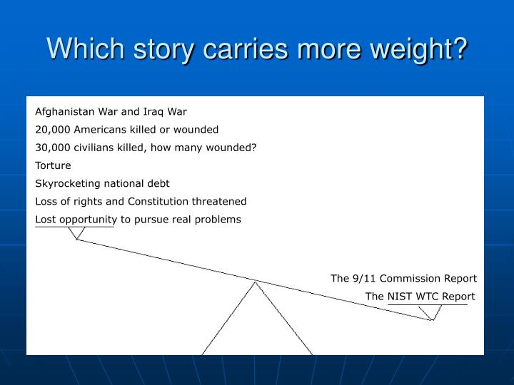 Which story carries more weight?