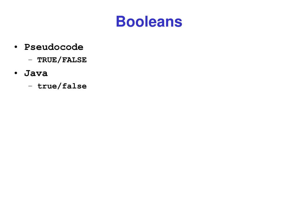 Booleans
