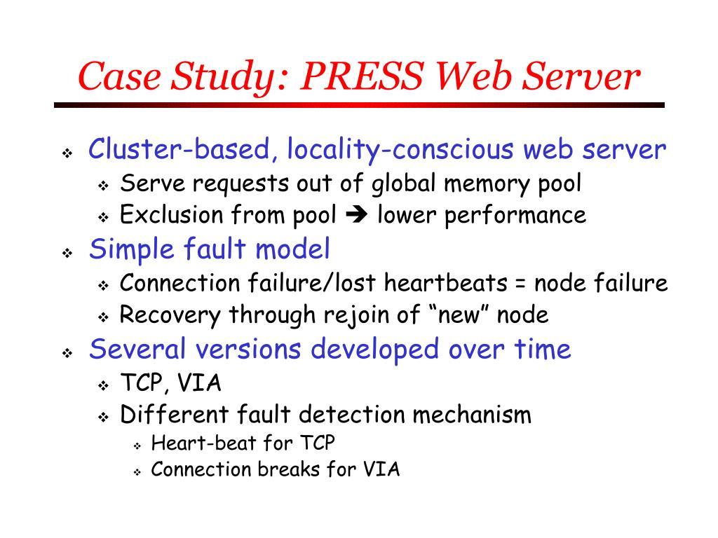 Case Study: PRESS Web Server