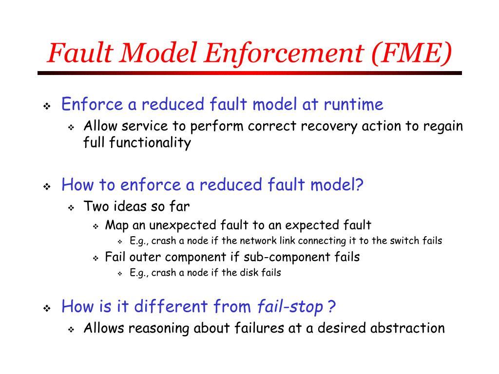 Fault Model Enforcement (FME)