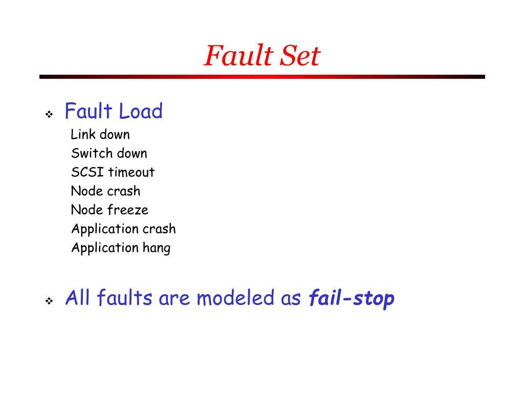 Fault Set