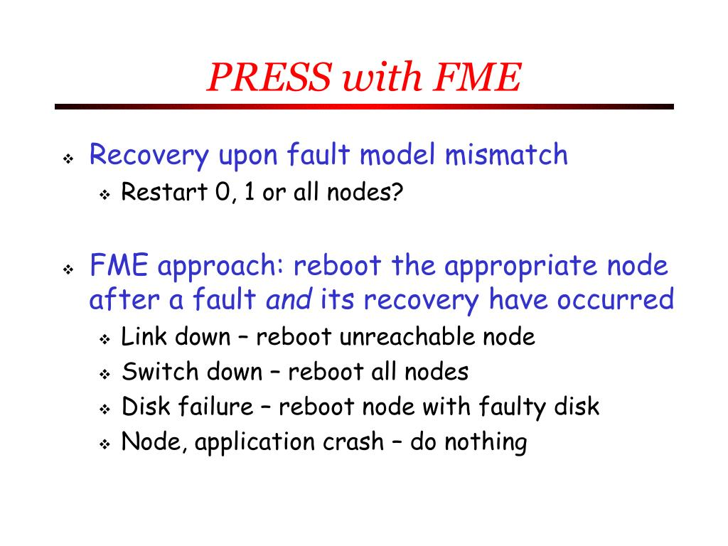 PRESS with FME