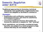domestic regulation under gats