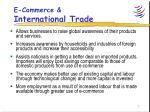 e commerce international trade