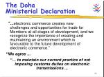 the doha ministerial declaration