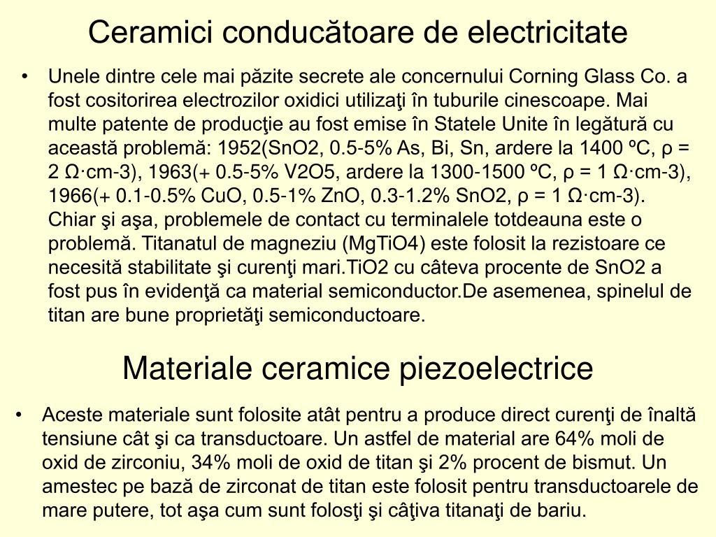 Ceramici conducătoare de electricitate