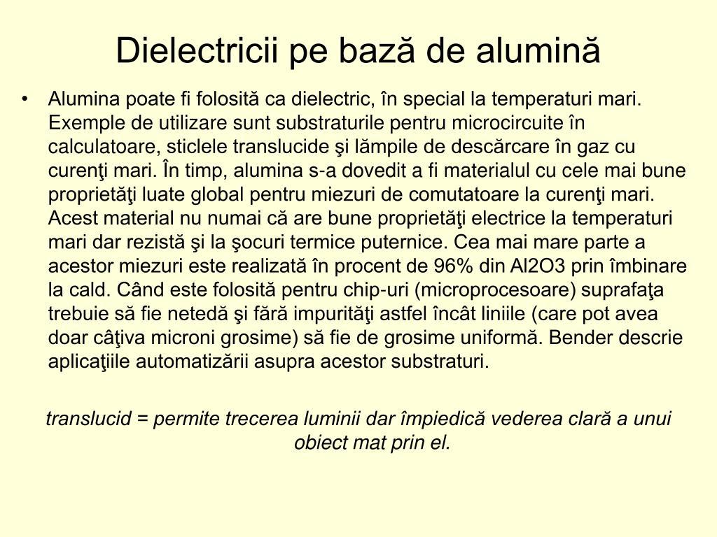 Dielectricii pe bază de alumină