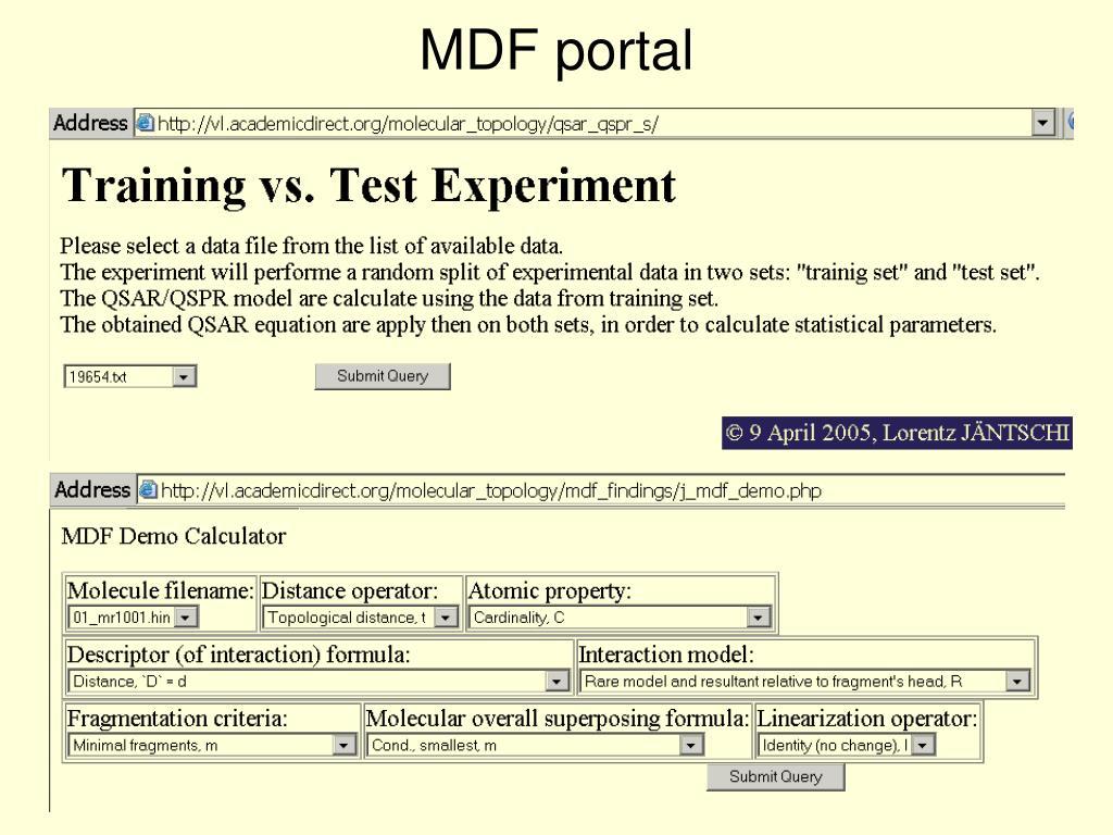 MDF portal