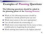 examples of planning questions