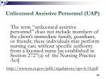 unlicensed assistive personnel uap90