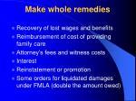 make whole remedies