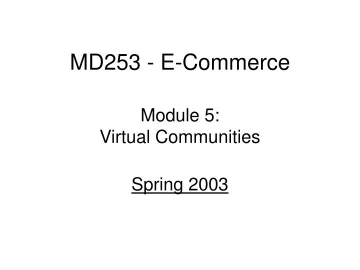 Md253 e commerce
