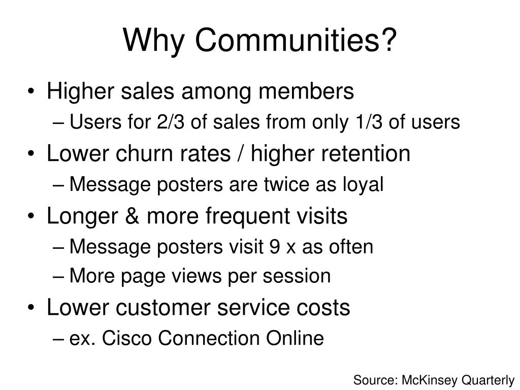 Why Communities?
