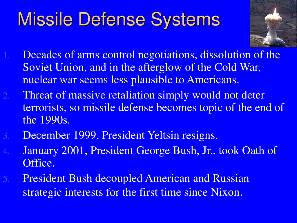 Missile Defense Systems