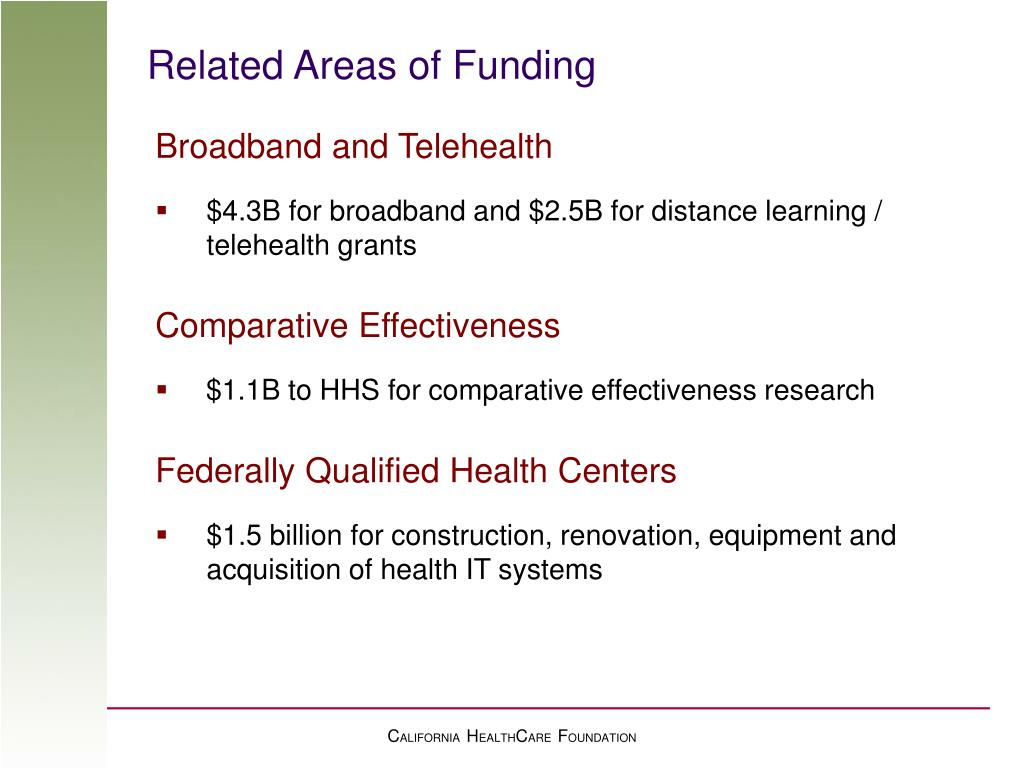 Related Areas of Funding