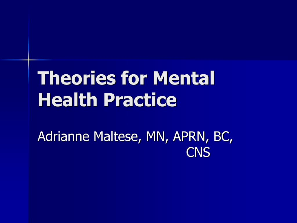 theories for mental health practice