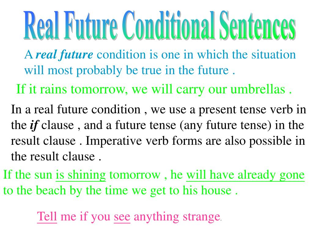 Real Future Conditional Sentences