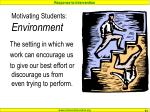 motivating students environment