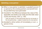 admitting a new partner