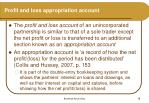 profit and loss appropriation account