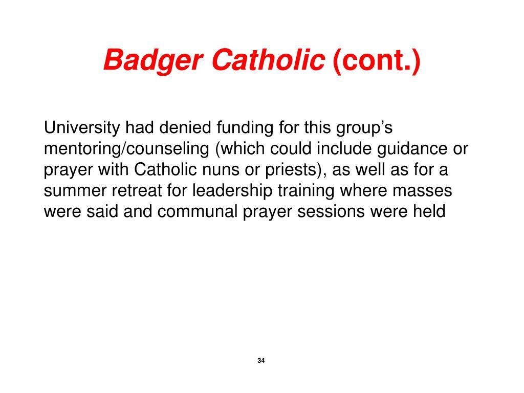 Badger Catholic