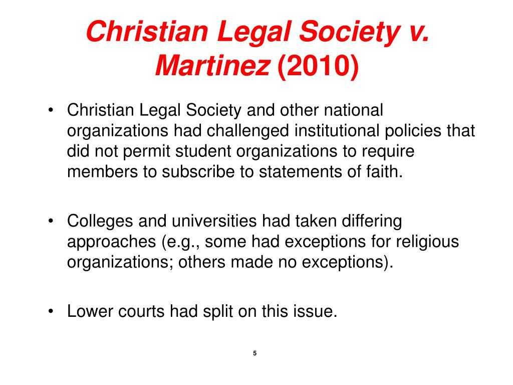 Christian Legal Society v. Martinez