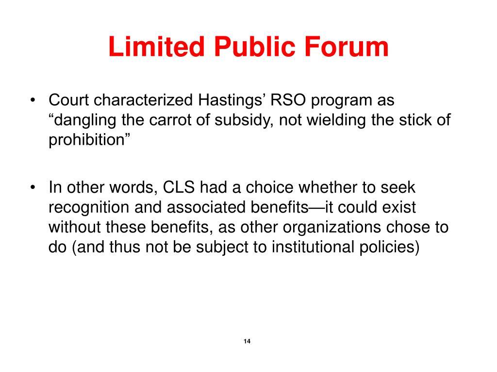 Limited Public Forum