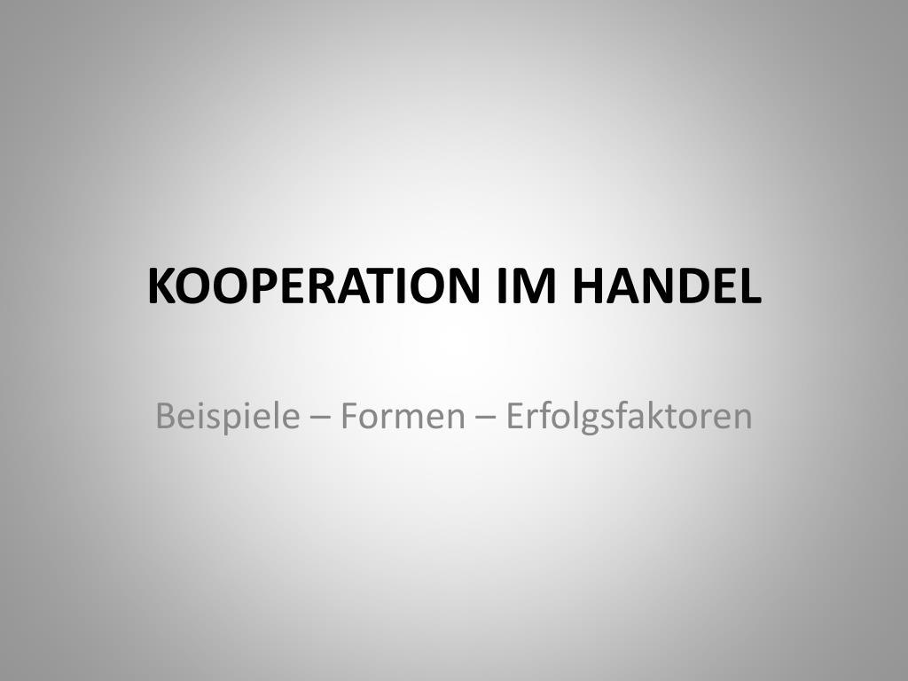 kooperation im handel