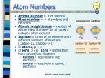atom numbers
