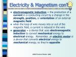 electricity magnetism con t