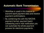 automatic bank transmission