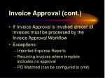 invoice approval cont