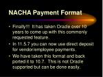 nacha payment format