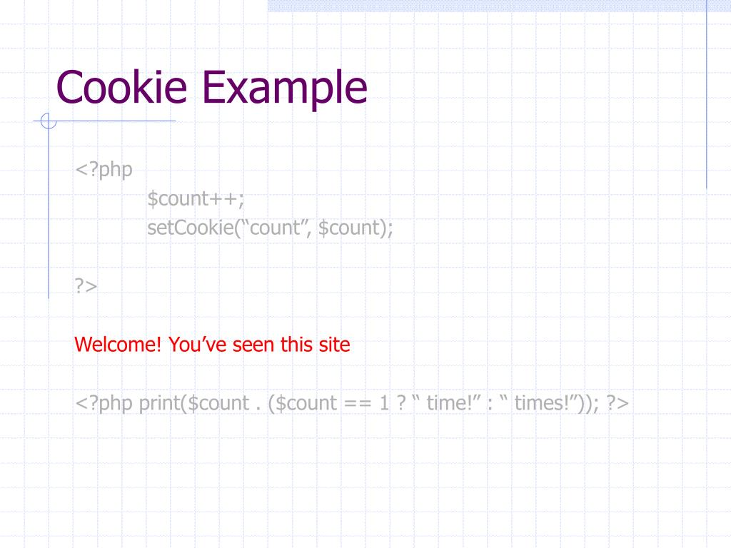 Cookie Example