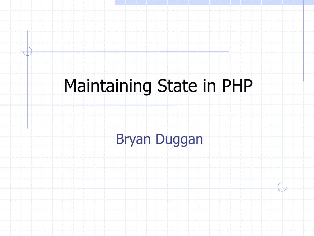 Maintaining State in PHP