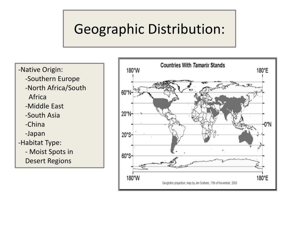 Geographic Distribution: