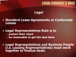 legal counsel s role