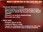 what s important in the lease and why26