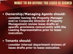 what to do before the lease is signed3