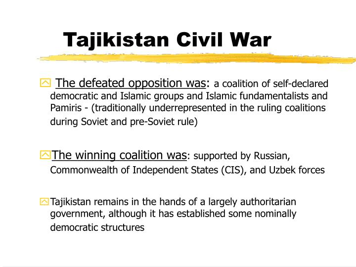 Tajikistan Civil War