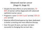 advanced ovarian cancer stage iii stage iv