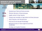 research groups in food technology at upv