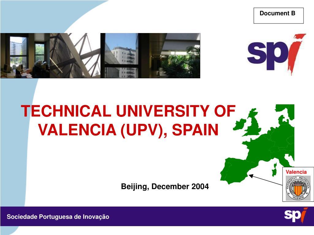 technical university of valencia upv spain